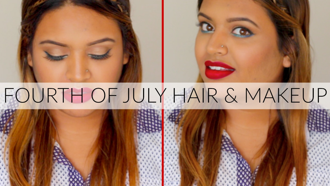 Here is a cute fourth of July makeup and hair tutorial for everyone celebrating fourth of July!