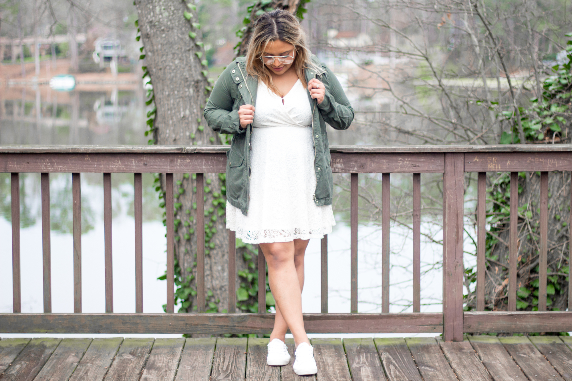 green-jacket-and-white-lace-dress2